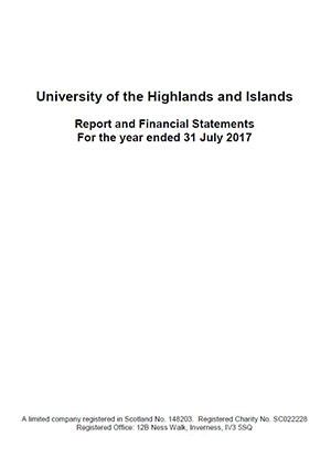 Report and Financial Statements cover