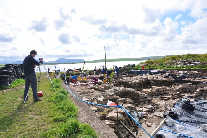 Archaeological dig at Ness