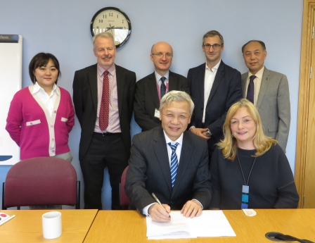 Signing of agreement between the university and Qingdao Hailanshen Biotechnology Ltd (QHB)