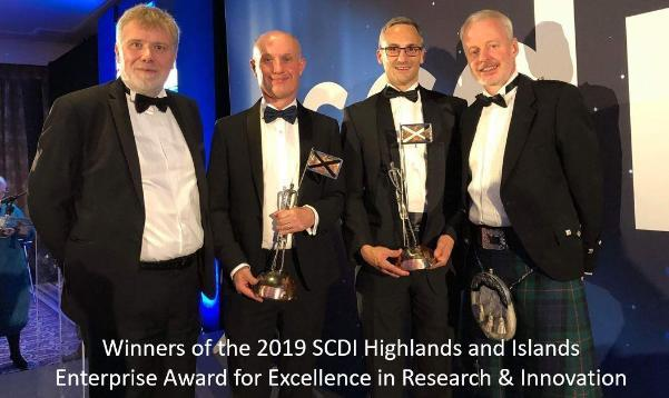 Winners of the 2019 SCDI Highlands and Islands Enterprise Award for Excellence in Research & Innovation