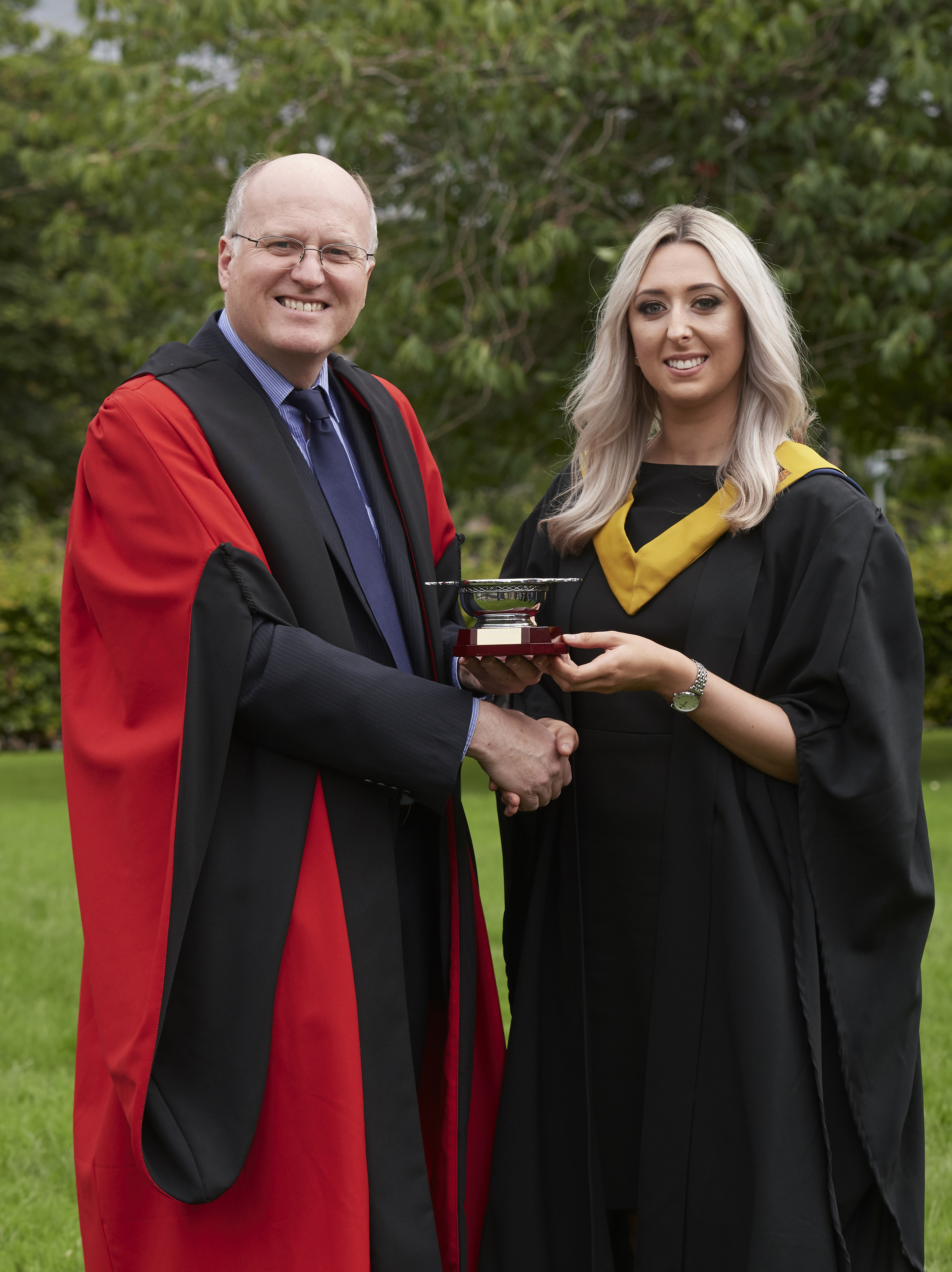 Kingussie student presented with care award