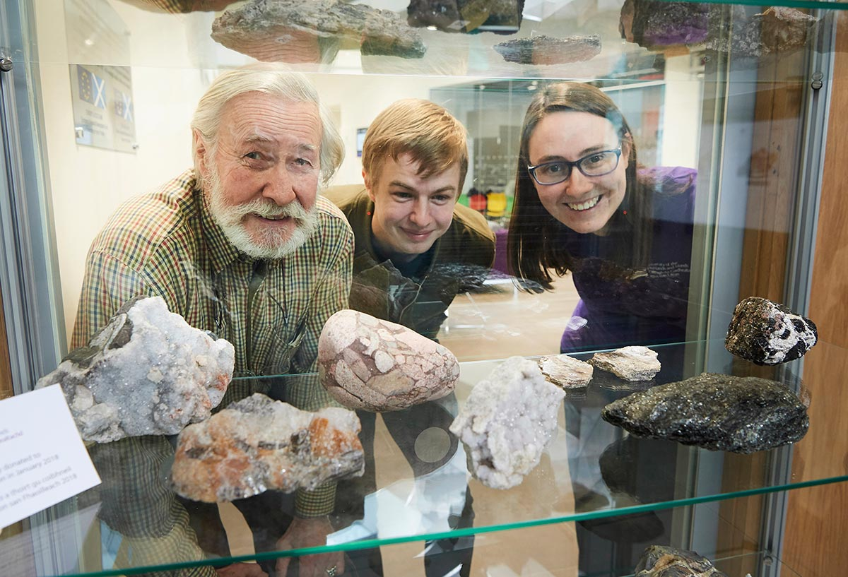 Students learn that geology rocks with new donation