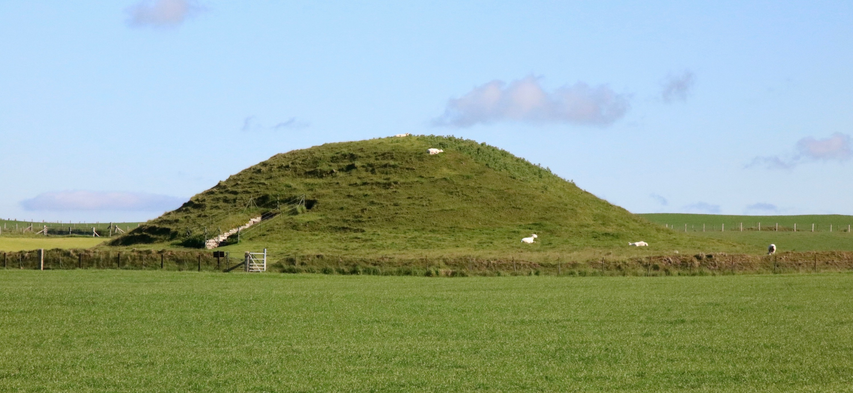 Upside down houses for the dead at Maeshowe