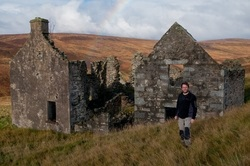 Steve Worth at ruined cottage