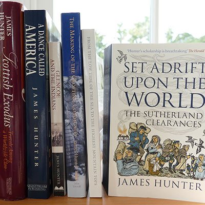 Selection of books written by Professor James Hunter