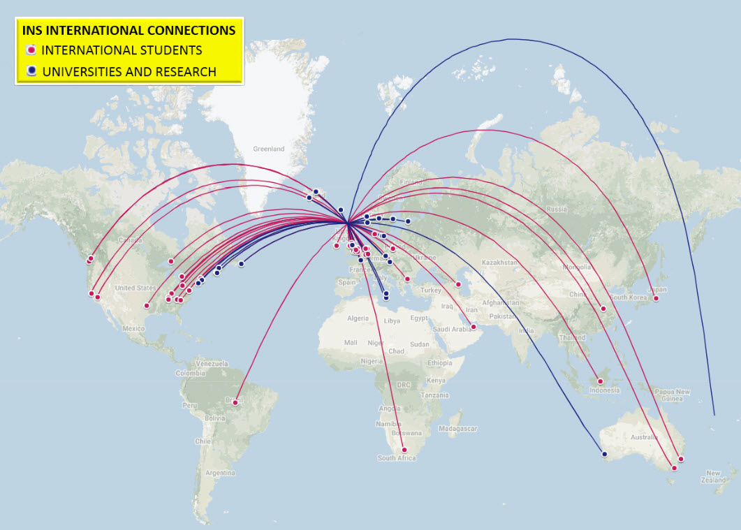 INS connections on map