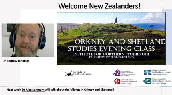 Orkney and Shetland evening class for New Zealand