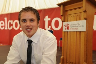 Mark MacSporran, Perth College student of the year 2012