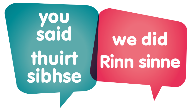 You said, we did | thuirt sibhse, Rinn sinne