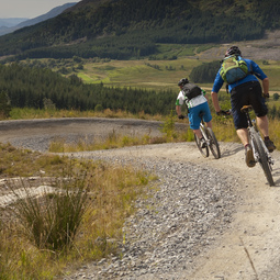 Mountain biking in Laggan